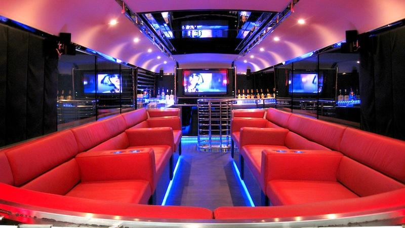 Lying Down on a Party Bus